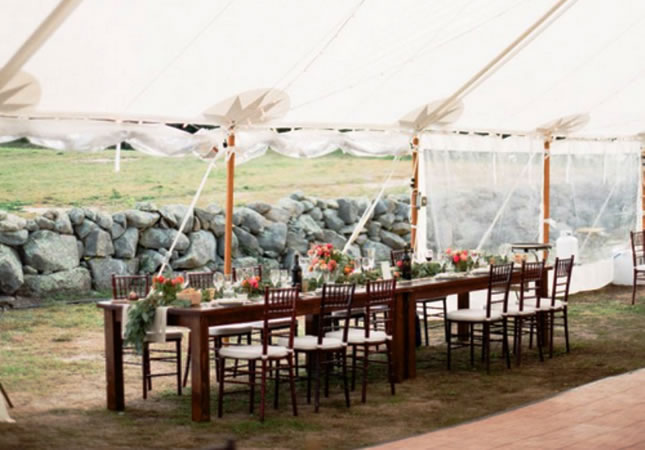 Chair and Tables & Tables and Chairs - Tilton Tents and Party Rentals | Marthau0027s Vineyard